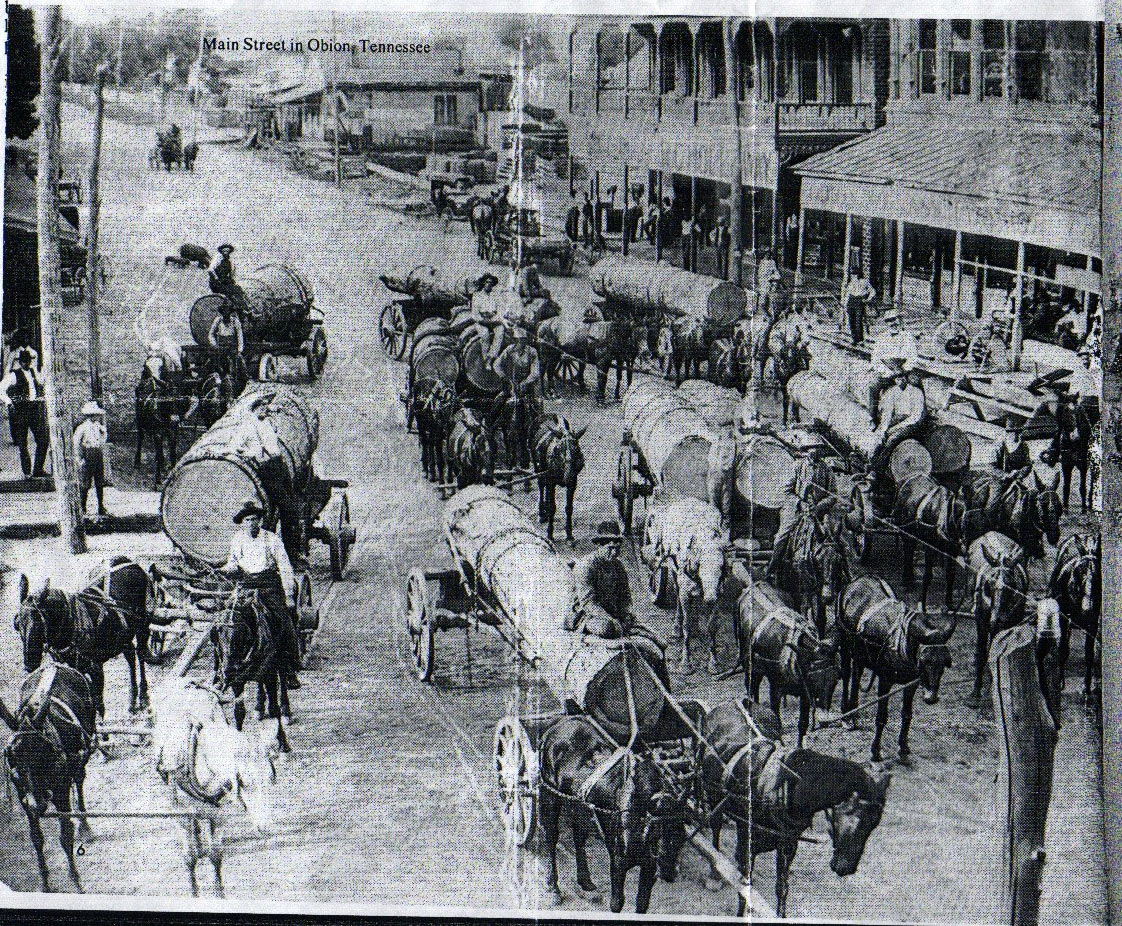 Main St Obion, TN late 1800s