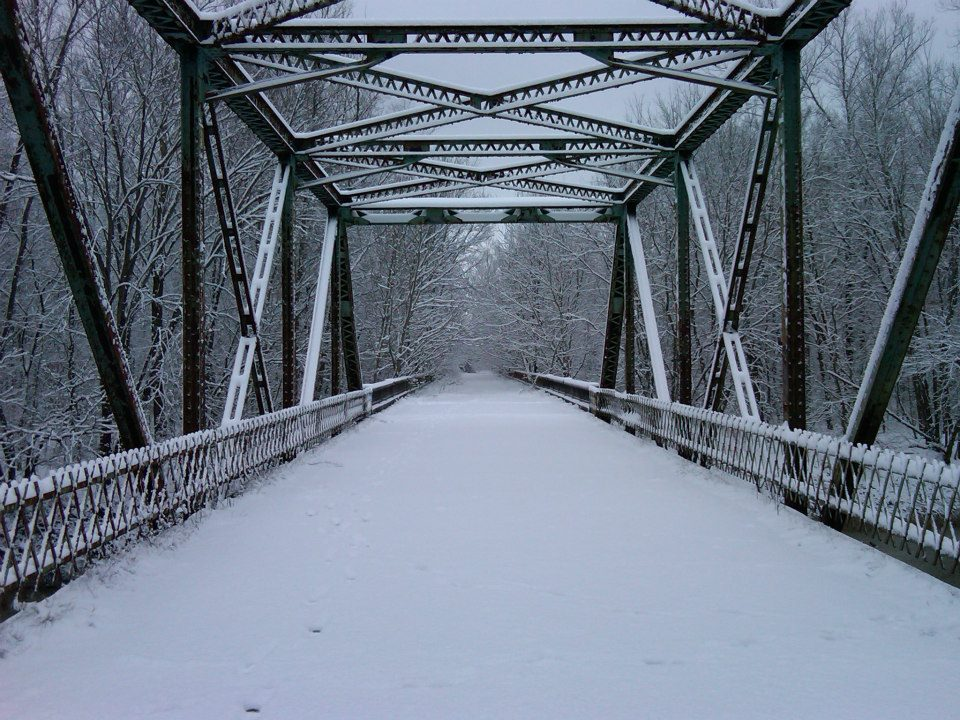 Bridge Covered in Snow